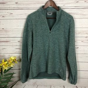 Smartwool Green 1/4 Zip Pullover Sweater - V2
